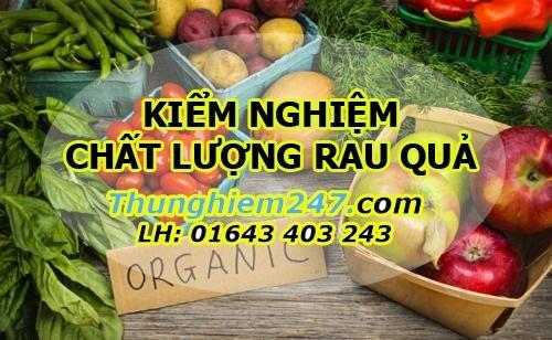 kiểm nghiệm chất lượng rau quả