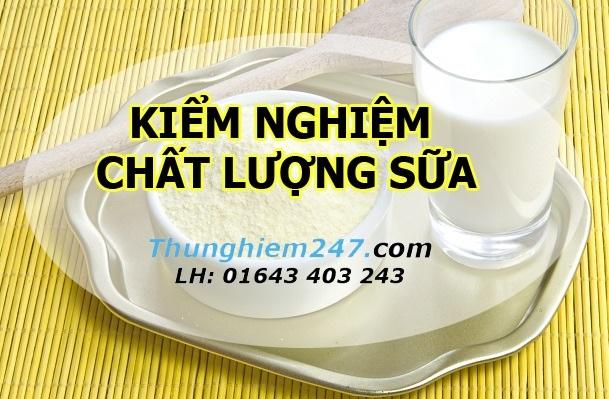 Kiểm nghiệm chất lượng sữa
