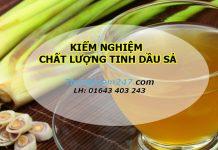 Kiểm nghiệm chất lượng tinh dầu sả