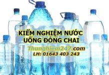 kiểm nghiệm chất lượng nước uống đóng chai