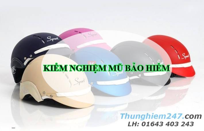 kiểm nghiệm chất lượng mũ bảo hiểm